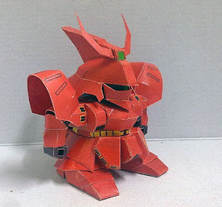 SD MSN04 Sazabi Papercraft