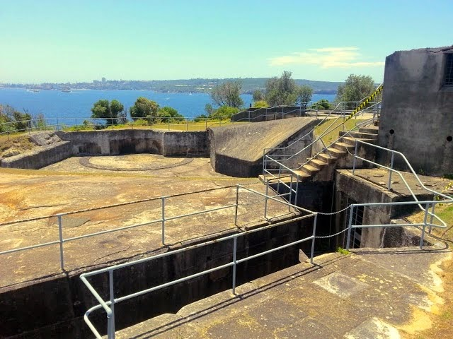 """Fort """"upgraded"""" for WWII use - guns long gone silent and made into scrap. Sydney Harbour Walk"""