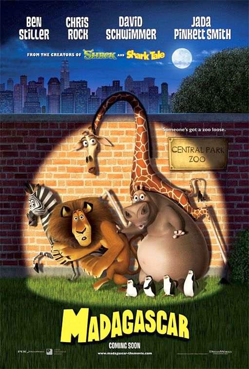 Poster Of Madagascar (2005) Full Movie Hindi Dubbed Free Download Watch Online At Alldownloads4u.Com