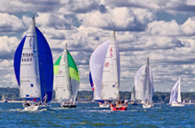 J/105s sailing AYC Fall Series on Long Island Sound