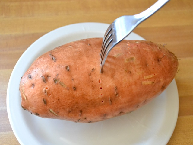 Prick sweet potato