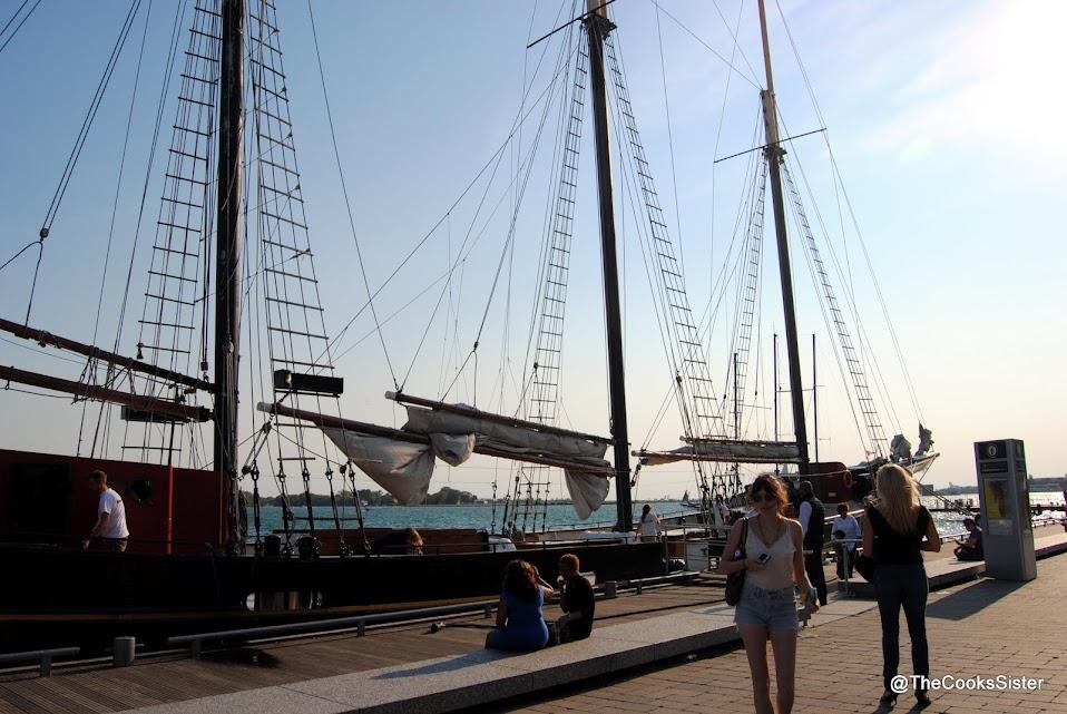 Kajama at the docks