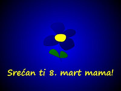 Cvet sa porukom: Srećan ti Osmi mart mama