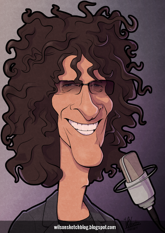Cartoon caricature of Howard Stern.