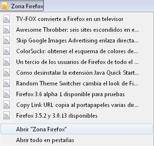 Los marcadores dinámicos en Firefox