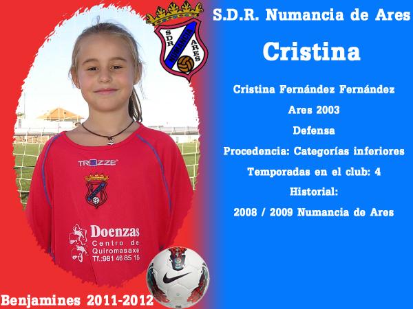 ADR Numancia de Ares. Benxamíns 2011-2012. CRISTINA.