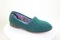 European-made green slipper from Veganline.com