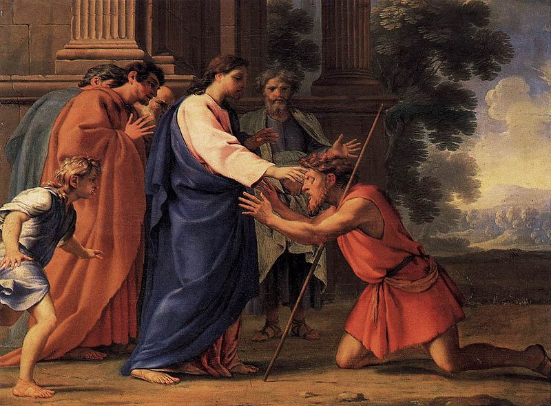 Eustache Le Sueur - Christ Healing the Blind Man