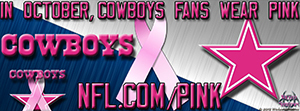Cowboys Breast Cancer Awareness Pink Facebook Cover Photo