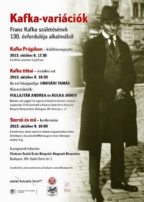 Kafka Prágában - kiállítás a Fővárosi Szabó Ervin Könyvtárban