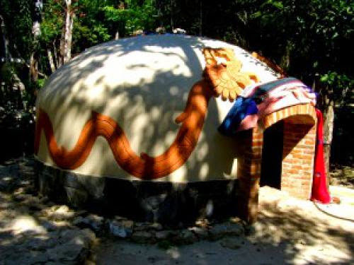 Temazcal Mayan Sweat Lodge In Mexico