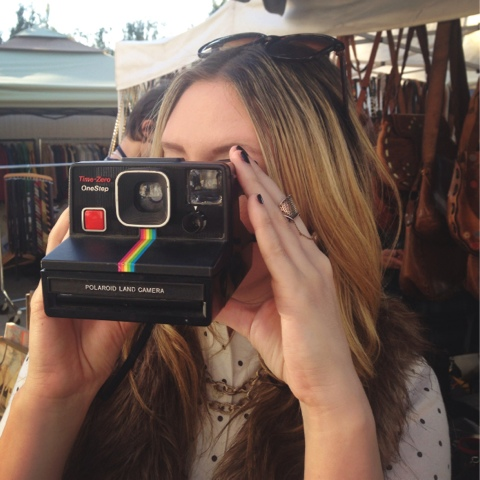 fairfax flea market, vintage camera, vintage polaroid, flea market finds