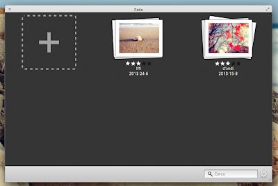 Foto, gestione album in elementary OS