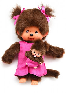 Monchhichi chicaboo mother care pink