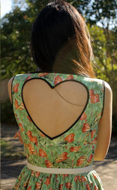 Customização decotes nas costas