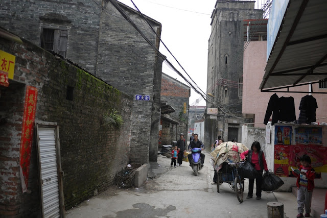 older buildings in alley in Nanping, Zhuhai, China
