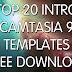 TOP 20 INTRO CAMTASIA 9 TEMPLATES FREE DOWNLOAD