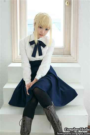 fate/stay night cosplay - saber by usagi