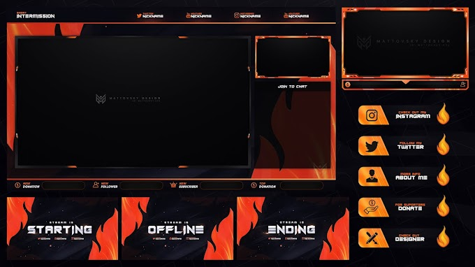 FLAME STREAM OVERLAY TEMPLATE FREE DOWNLOAD