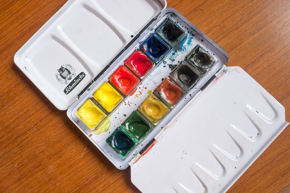 Review Schmincke 12 Half Pan Watercolour Box Set Parka