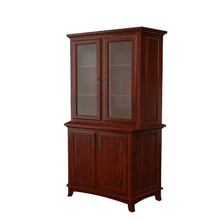 Glasgow Corner Cabinet in Jefferson Walnut