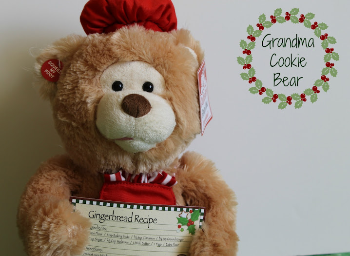 The Talking Grandma Cookie Bear from Cuddle Barn is a Sweet #Christmas Decoration