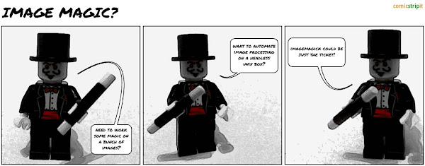 ImageMagick comic strip made with @ComicStripIt