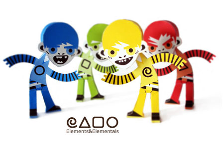 Elements & Elementals Paper Toy