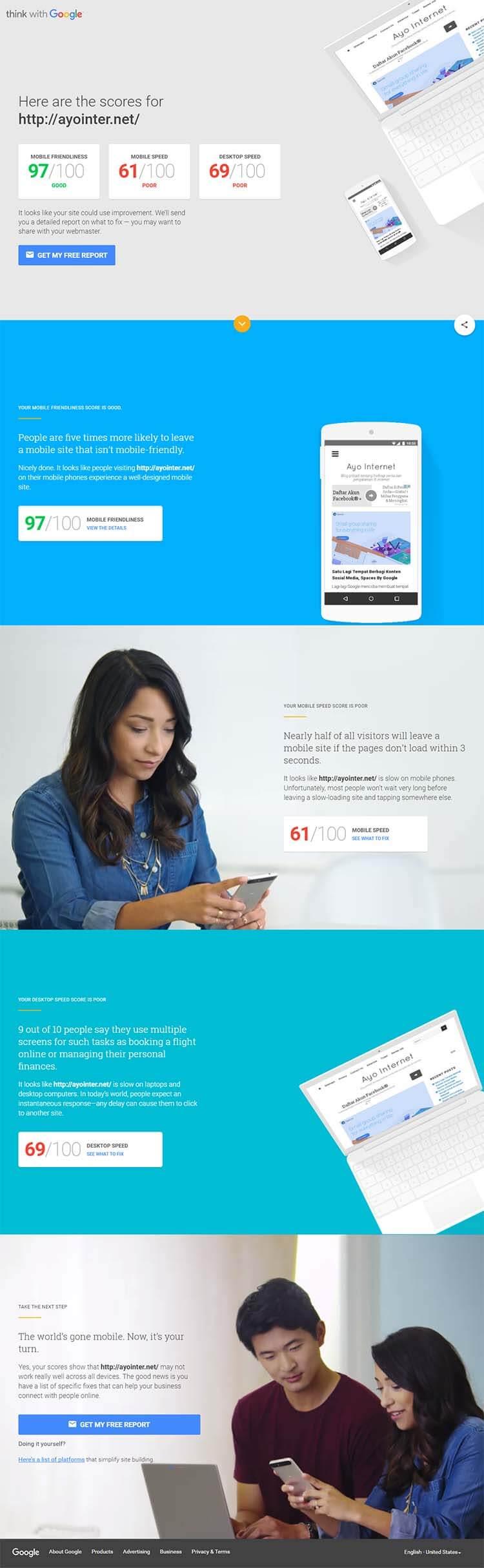 Tool Baru Google Untuk Test Web Speed Dan Mobile Friendly