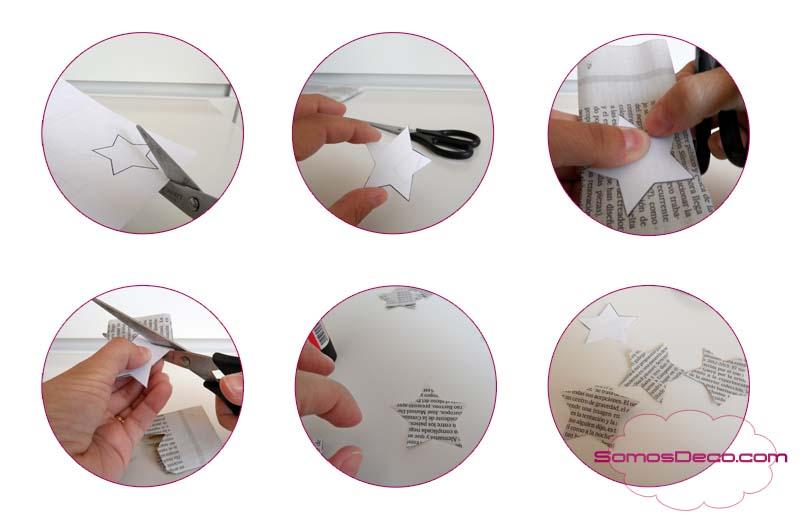 Como hacer palillos con estrella para decorar en Navidad.