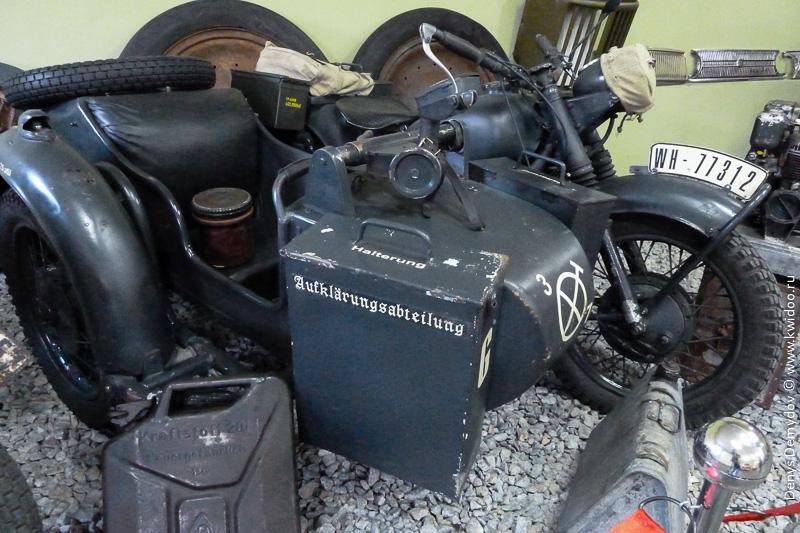 Немецкий мотоцикл Zündapp с отметкой отряда Aufklärungsabteilung