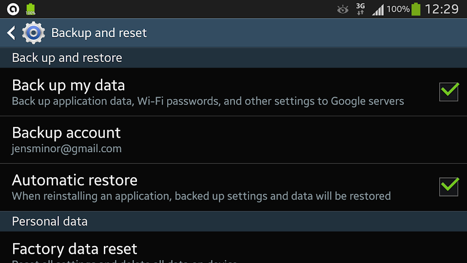 Android WLAN Backup