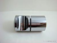 裝潢五金 品名:V611-浴室玻璃單點把手 規格:40*83mm 材質:鐵 顏色:PC 玖品五金