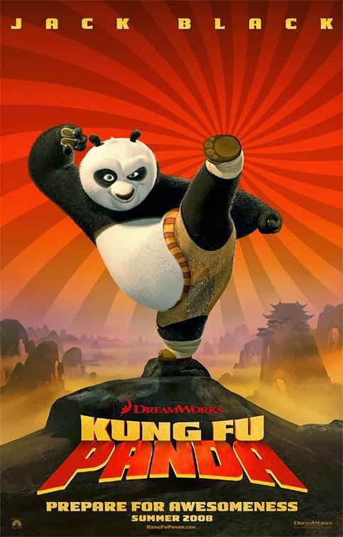 Poster Of Kung Fu Panda (2008) Full Movie Hindi Dubbed Free Download Watch Online At Alldownloads4u.Com