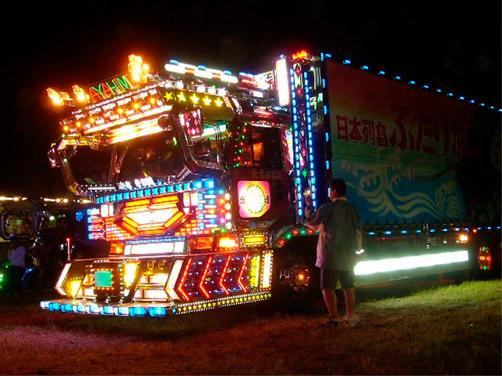 Dark Roasted Blend Electric Light Truck Decoration In Japan