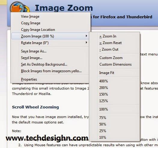 image zoom addon