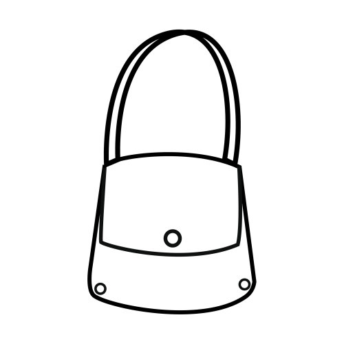 Purse, free coloring pages