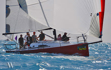 J/111 Mental sailing in perfect Key West sailing conditions