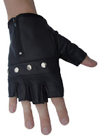 Studded Fingerless Leather Gloves with a Gothic Twist, from AbbyShot Clothiers