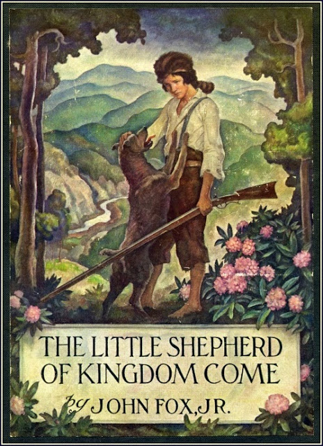 N. C. Wyeth - The Little Shepherd of Kingdom Come, cover label illustration