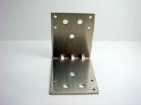 裝潢五金 型號:H801-白鐵固定片 規格:74*93MM 玖品五金