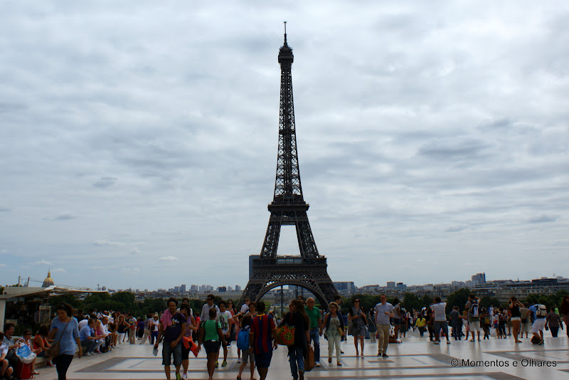A Torre Eifel desde o Trocadero