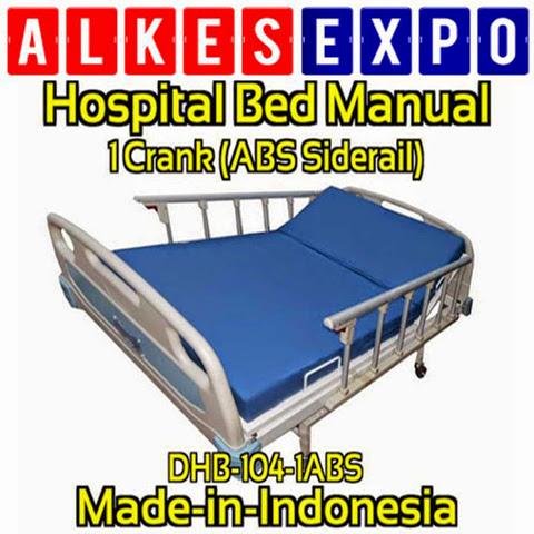 Gambar Ranjang Rumah Sakit ABS Siderail Deluxe 1 Engkol Merk DUMEDPOWER