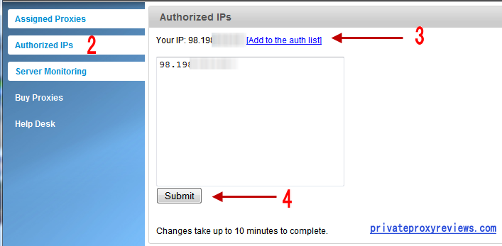SquidProxies IP Authentication HOW to authorize private proxy