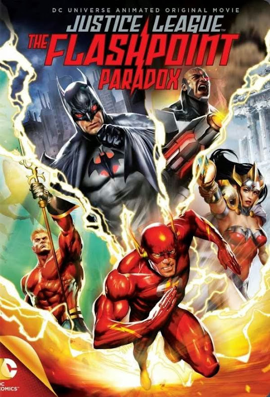 Poster Of English Movie Justice League: The Flashpoint Paradox (2013) Free Download Full New Hollywood Movie Watch Online At Alldownloads4u.Com