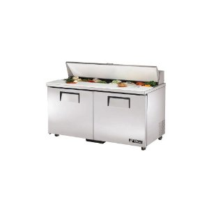 True Ada Compliant 15.5 Cu Ft Sandwich / Salad Unit W/ 16 Pans - TSSU-60-16-ADA