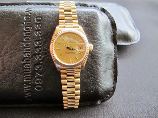 Bán đồng hồ rolex datejust nữ 69178 – dây vàng 18k – vỏ 18k – size 26mm