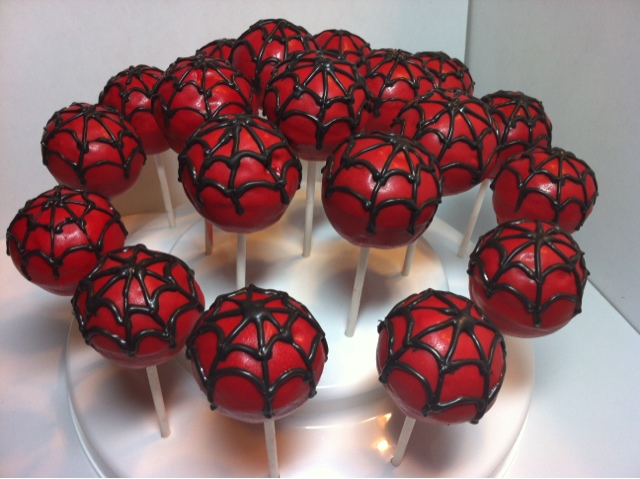 Sweet Shindigs Spiderman Inspired Cake Pops