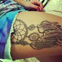 dreamcatcher tattoos on thigh 1