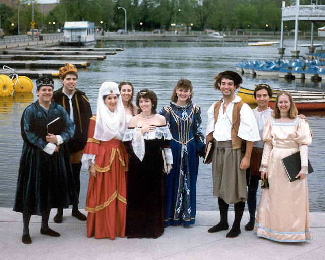 At Dows lake, Ottawa in Period wear ready to sing Madrigals